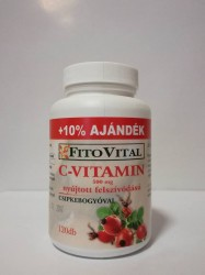 FITOVITAL C-VITAMIN 500MG 120DB + 10%